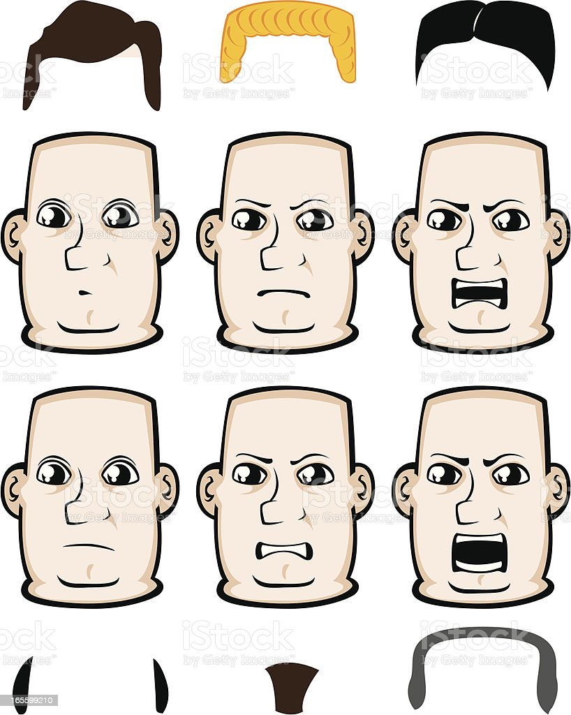 Expressions - Anger royalty-free stock vector art