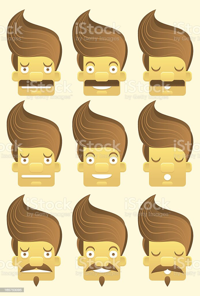Expressions faces set royalty-free expressions faces set stock vector art & more images of 30-34 years