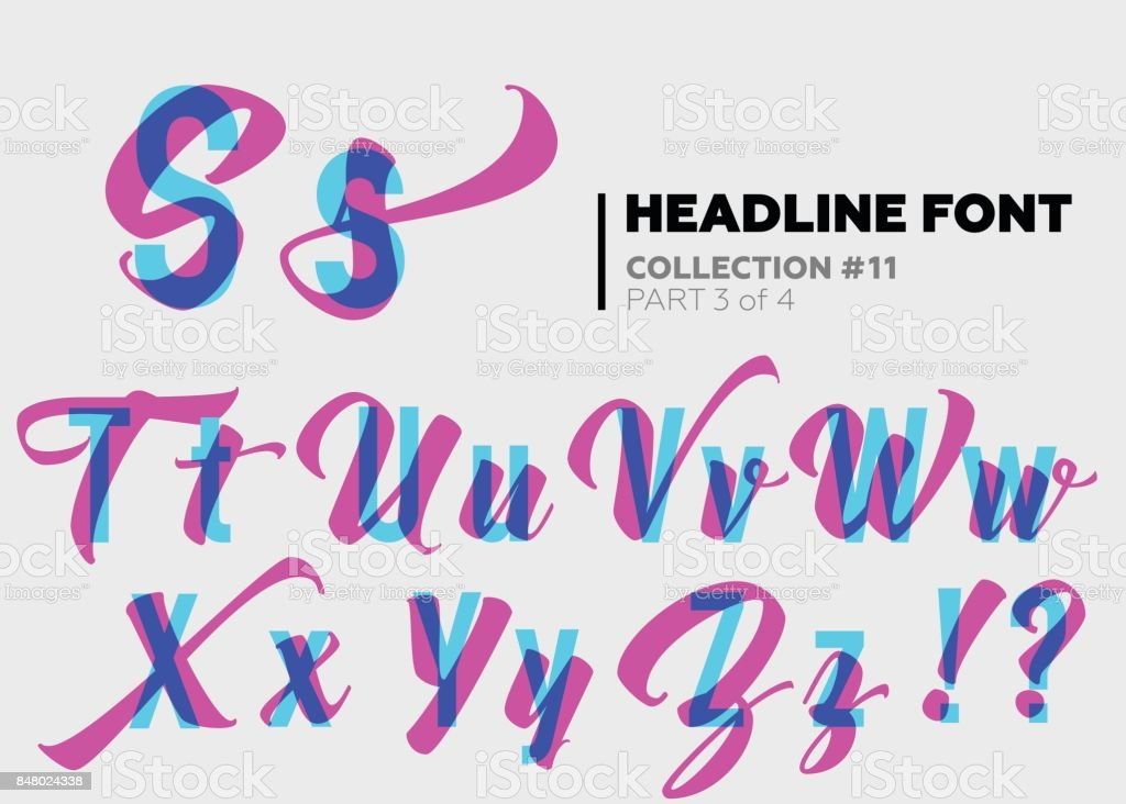 Expressive Decorative Typography Display Type With Glitch