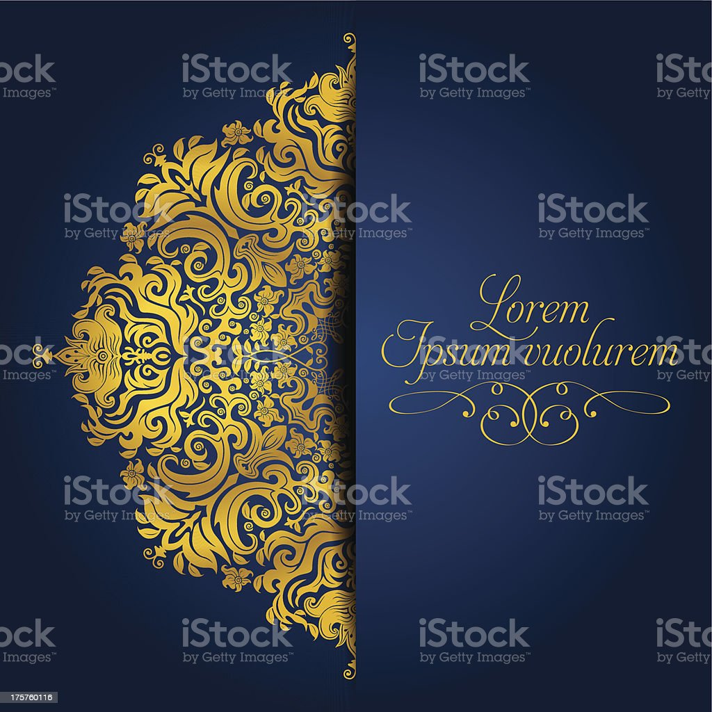 Exquisit Golden Mandala vector art illustration