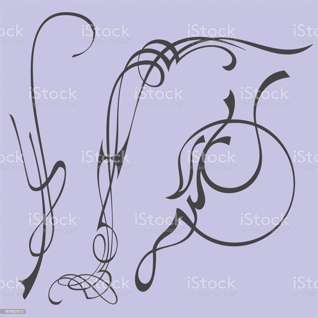 Exquisite Design Elements 21 (Vector) royalty-free stock vector art