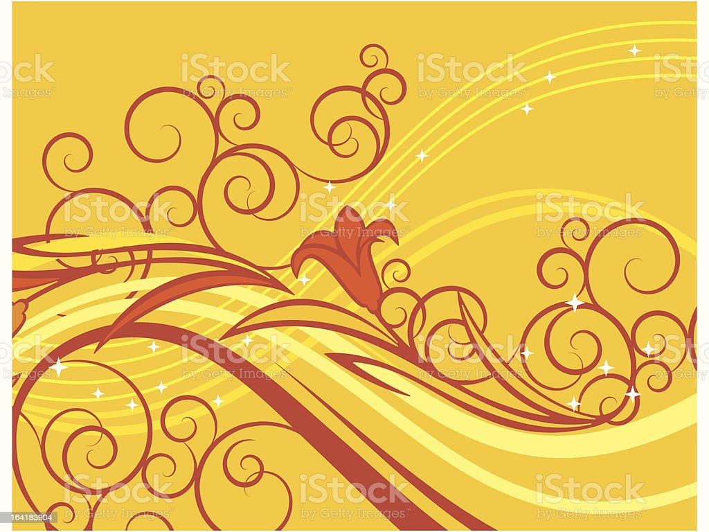 Exquisite Floral Background royalty-free stock vector art