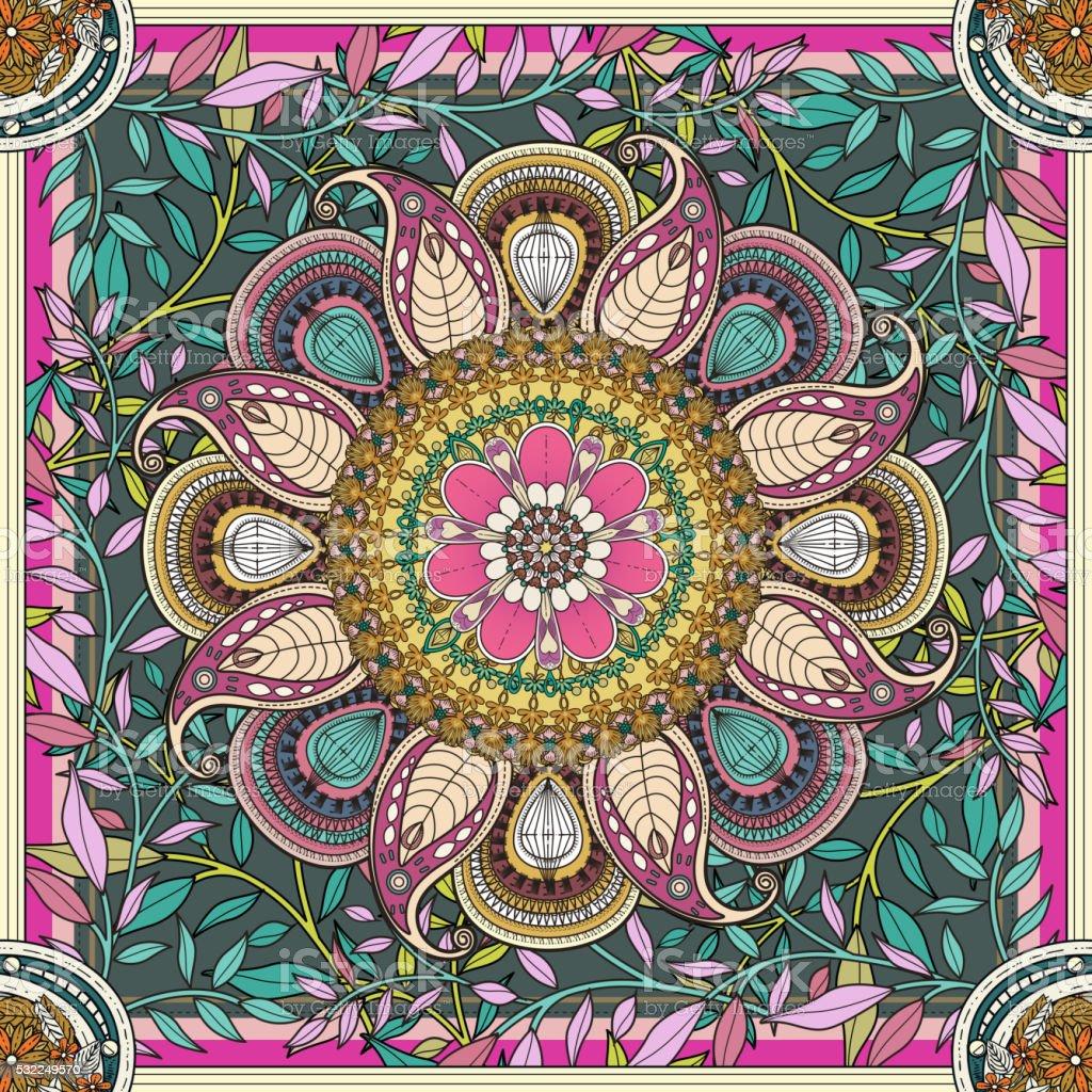 Squisita Mandala Sfondo Immagini Vettoriali Stock E Altre Immagini