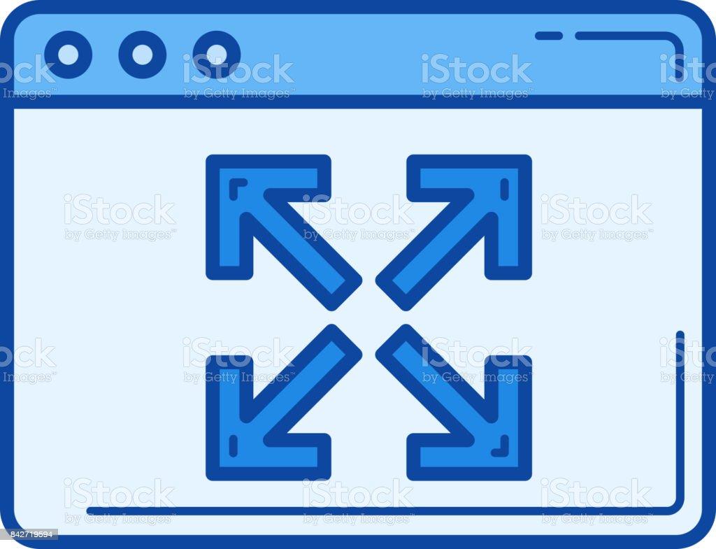 Extend line icon vector art illustration
