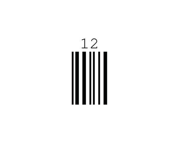 UPC Extension 2 Digits Barcode Standards vector art illustration