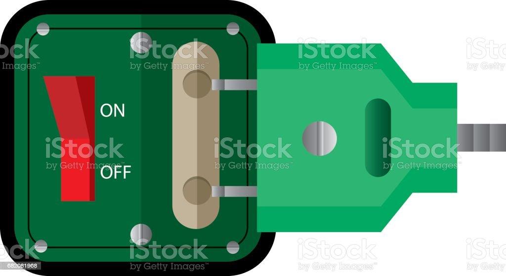 extension cord / lead icon. flat vector illustration vector art illustration