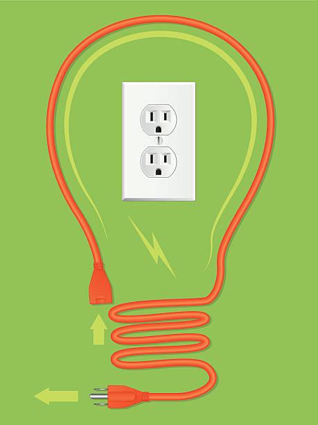 illustrations, cliparts, dessins animés et icônes de rallonge ampoule électrique - rallonge électrique