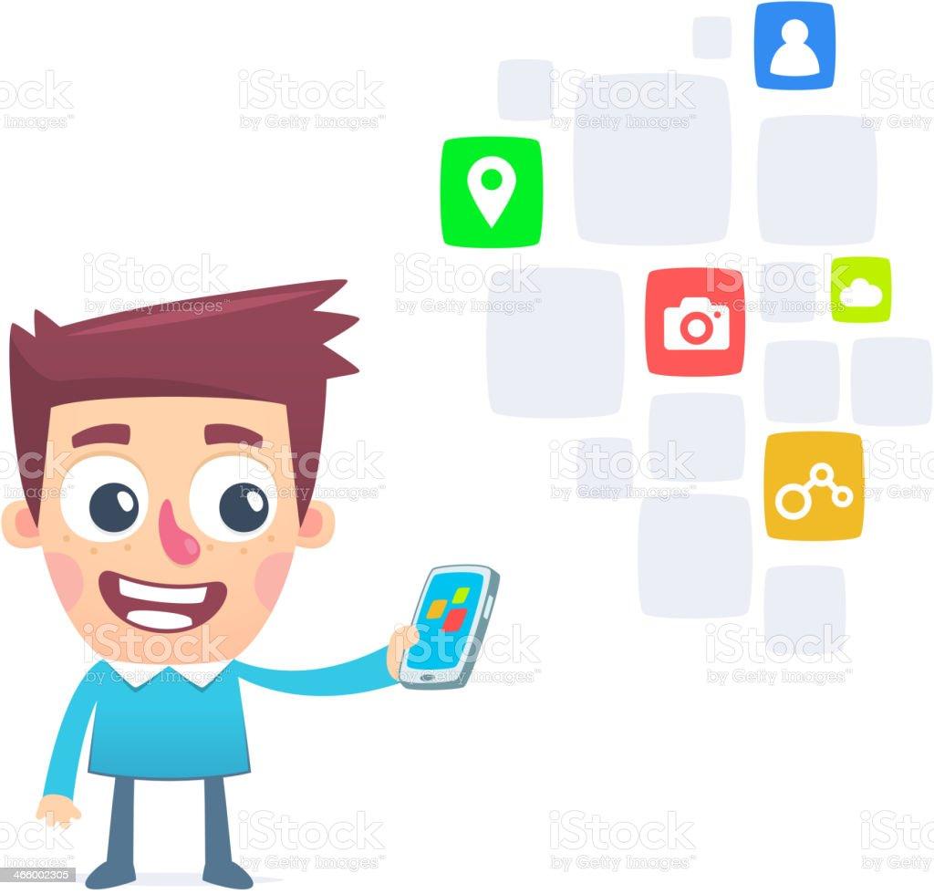 充実した無料のスマートフォンのアプリ のイラスト素材 466002305 | istock