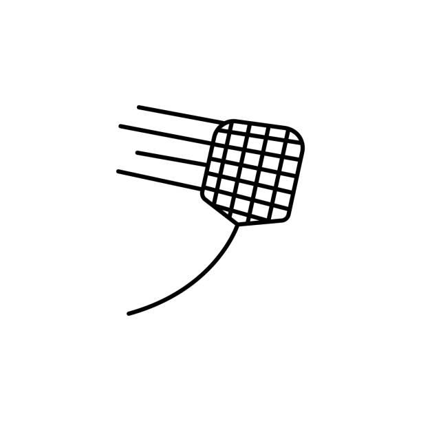 kammerjäger flapper-symbol. element der pest symbol für mobile konzept und web-apps. dünne linie kammerjäger flapper symbol für web und mobil einsetzbar - mückenfalle stock-grafiken, -clipart, -cartoons und -symbole