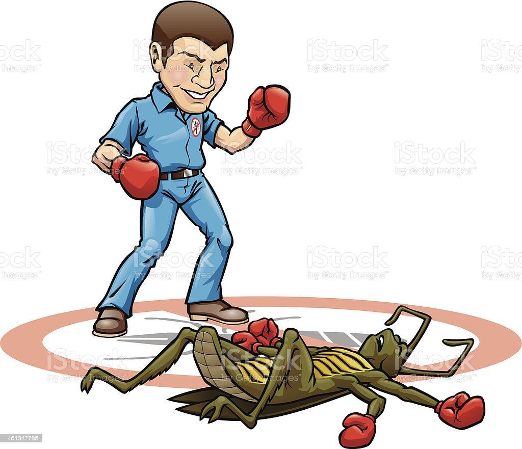 Exterminator Knock Out - ilustração de arte em vetor