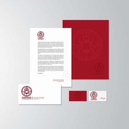 Exterminator logo and branding