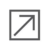 External Link Icon open a new window in a UX UI app