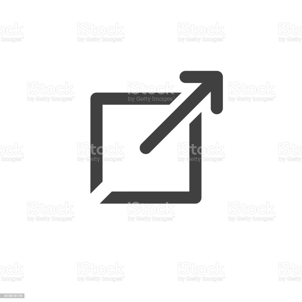 External Link Icon open a new window in a UX UI app vector art illustration
