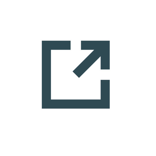 External Link Icon with arrow & box pointing External Link Icon w arrow and box pointing hyperlink stock illustrations