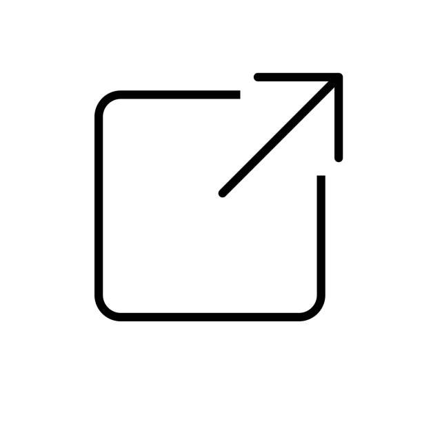 External link icon with thin line outlines External link icon with thin line outline hyperlink stock illustrations