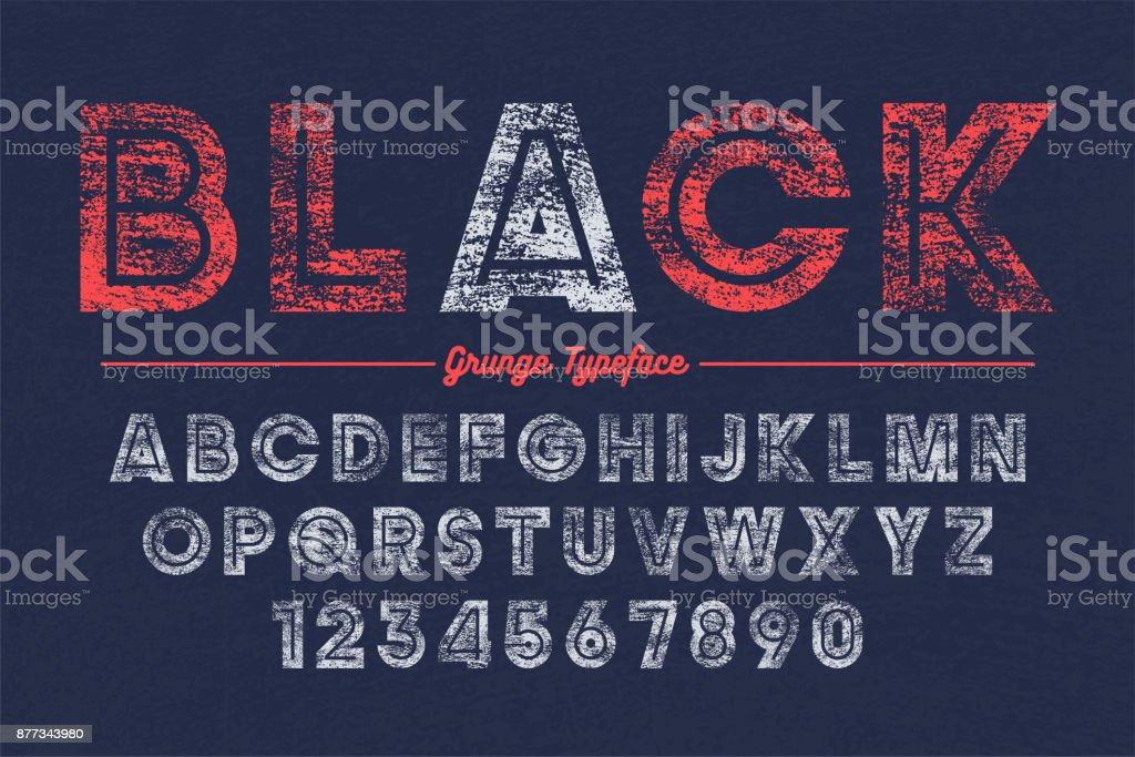 Extra Bold vector decorative bold font design, grunge, alphabet, typeface vector art illustration