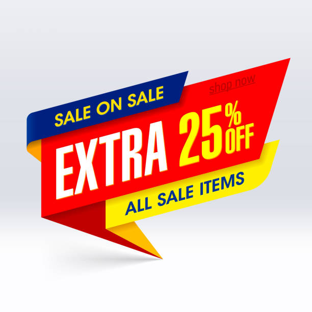 Extra Sale banner vector art illustration