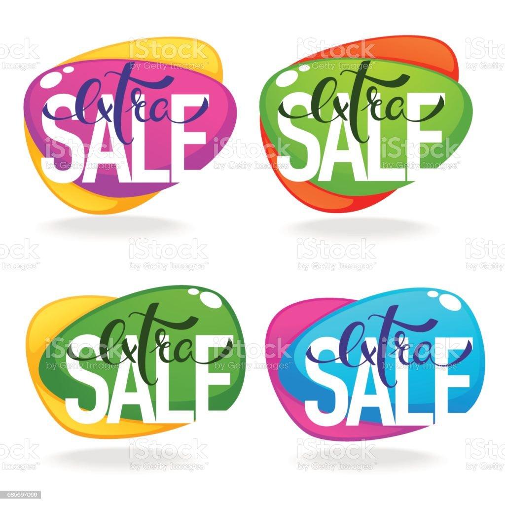 extra sale royalty-free extra sale sport set에 대한 스톡 벡터 아트 및 기타 이미지
