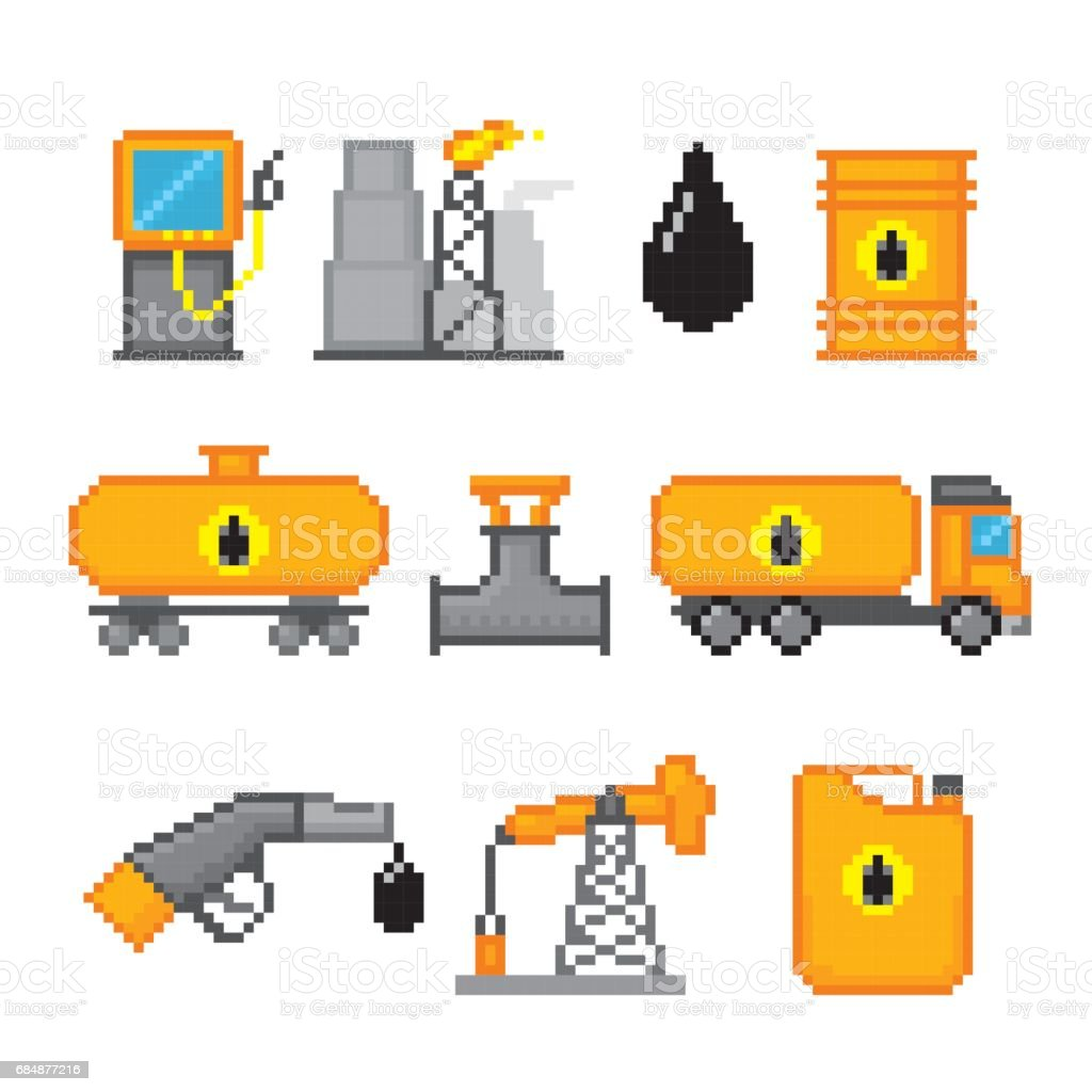 Extraction And Processing Of Oil Pixel Art Old School