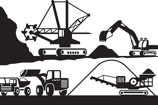 Extraction and processing of ore from open pit