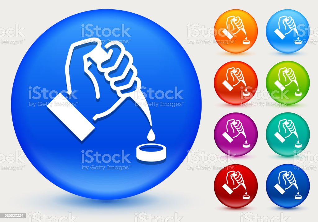 Extraction Icon on Shiny Color Circle Buttons royalty-free extraction icon on shiny color circle buttons stock vector art & more images of biology