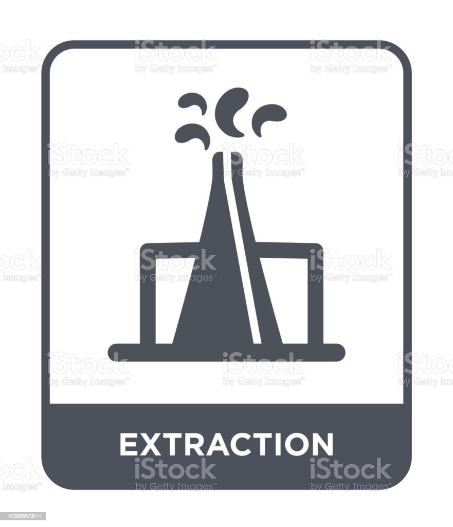 Extraction Icon Vector On White Background Extraction Trendy Filled Icons From Industry Collection Stock Illustration Download Image Now Istock