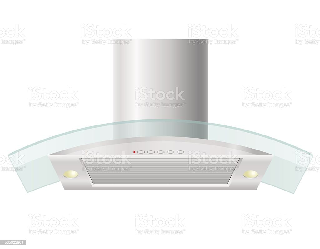 extractor hood for kitchen vector illustration vector art illustration