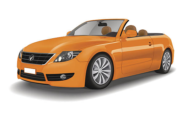 Extreemely detailed Sports Car Convertible Vector.  convertible stock illustrations