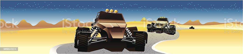 Extreme desert race royalty-free extreme desert race stock vector art & more images of car