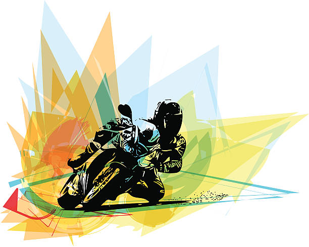Extreme motocross racer by motorcycle Extreme motocross racer by motorcycle on abstract background stunt stock illustrations