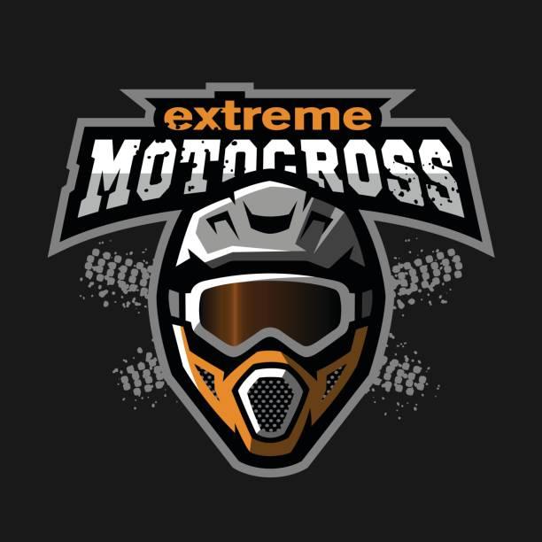 stockillustraties, clipart, cartoons en iconen met extreme motorcross. - sportkampioenschap