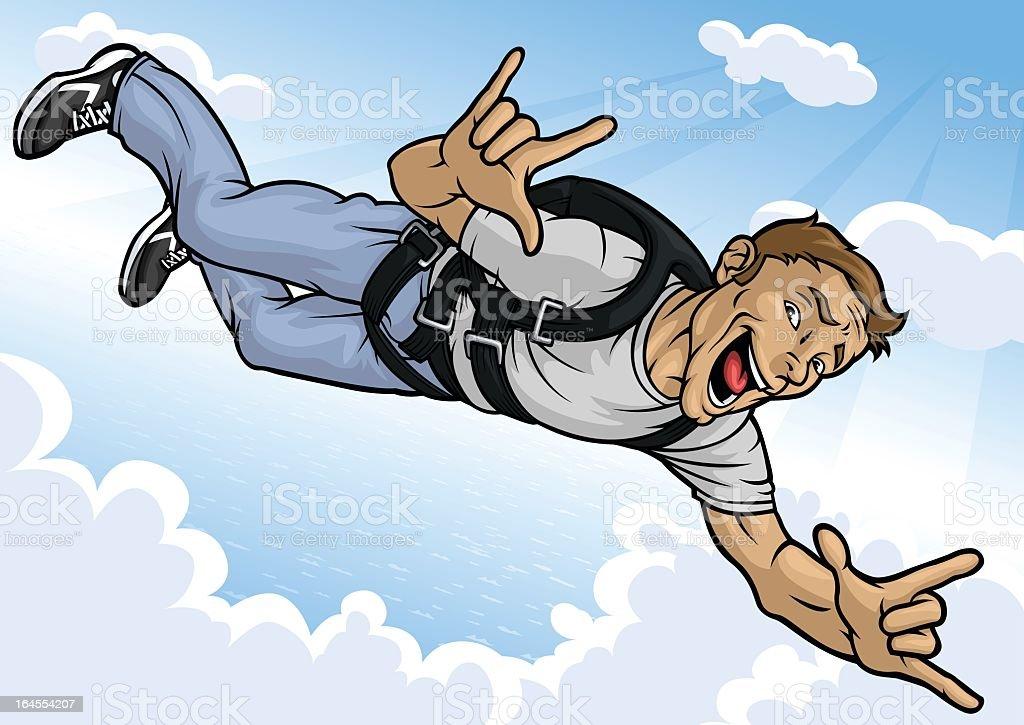 Extreme Skydiver vector art illustration