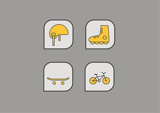 extreme sport icons vector art illustration