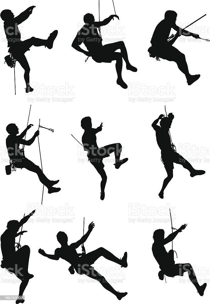 Arrampicata su roccia di sport estremi - illustrazione arte vettoriale