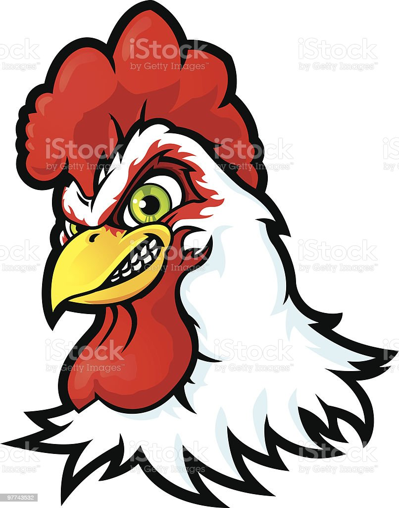 Extreme Sport Rooster royalty-free stock vector art