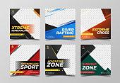 Modern sport banner template