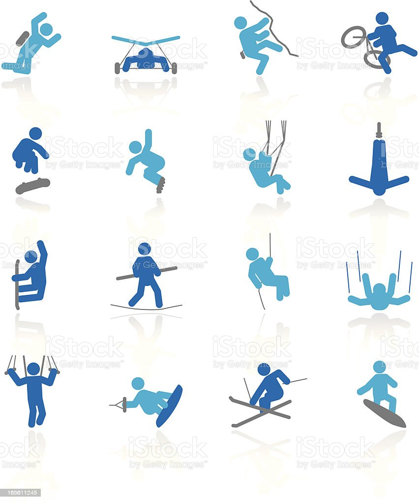 Extreme Sports   Arctic Collection royalty-free extreme sports arctic collection stock vector art & more images of base jumping