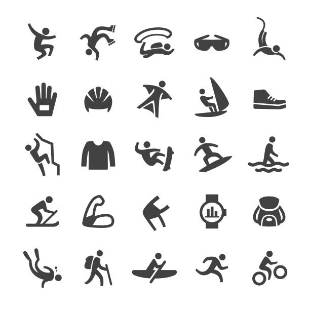 bildbanksillustrationer, clip art samt tecknat material och ikoner med extrema sporter ikoner-smart series. jpg - parkour