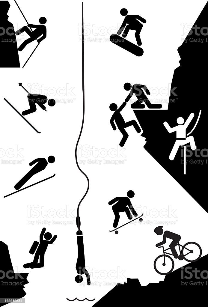 Extreme Sports Icons royalty-free extreme sports icons stock vector art & more images of adult