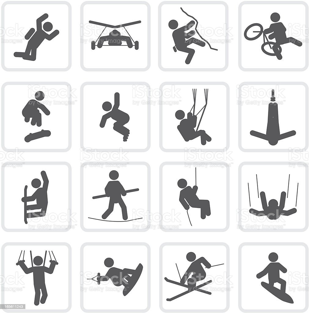 Extreme Sports | Raw Collection向量藝術插圖