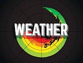 Weather radar extreme weather concept.