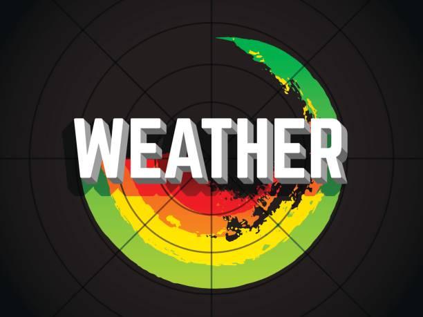 extreme weather radar - radar stock illustrations