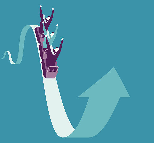 extremely business exciting - roller coaster stock illustrations