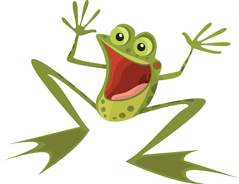 Extremely Happy Frog
