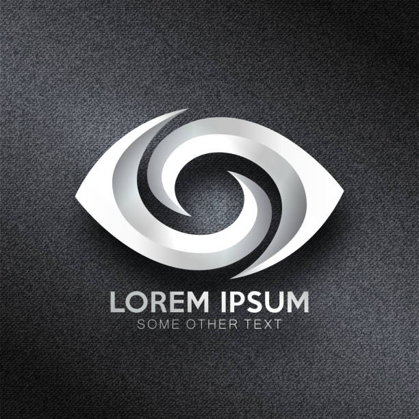 eye abstract   design vector - зрение stock illustrations