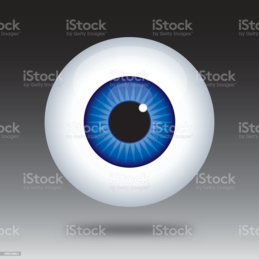 Eye Ball Icon vector art illustration