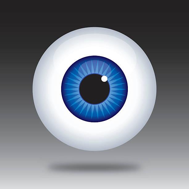 ilustraciones, imágenes clip art, dibujos animados e iconos de stock de ojo icono de bola - ojos azules