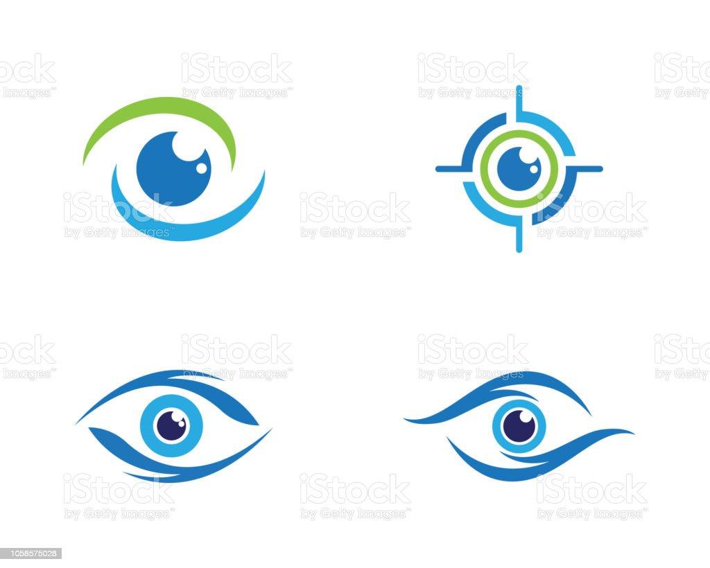 Eye Care vector logo design eye care vector logo design - immagini vettoriali stock e altre immagini di affari royalty-free