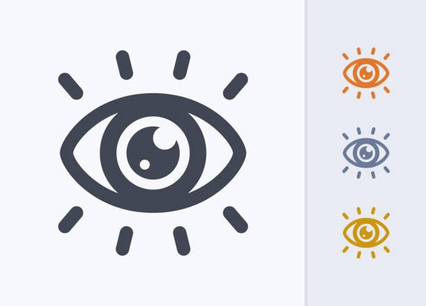 ilustraciones, imágenes clip art, dibujos animados e iconos de stock de catching eye catching - iconos de latencia pastel - globo ocular