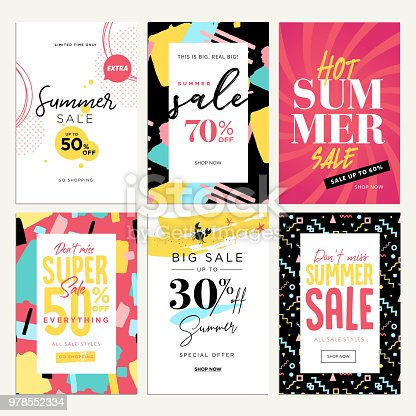 Vector illustrations concept for shopping, e-commerce, internet advertising, social media ads and banners, marketing material.